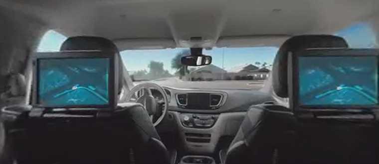 Autonoom auto rijden van binnenuit gezien