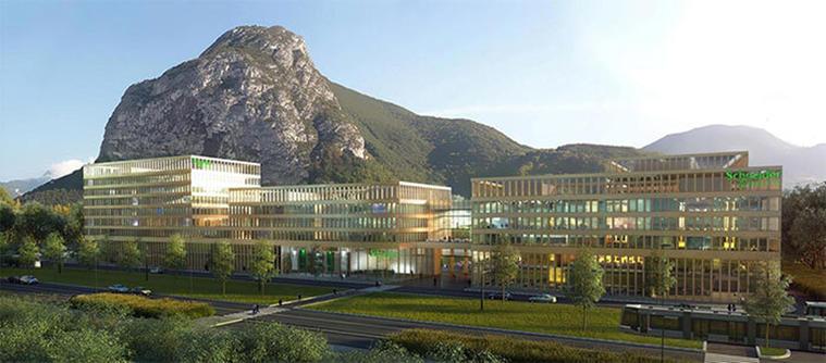 BIM helpt bij energiereductie door Schneider Electric in Grenoble