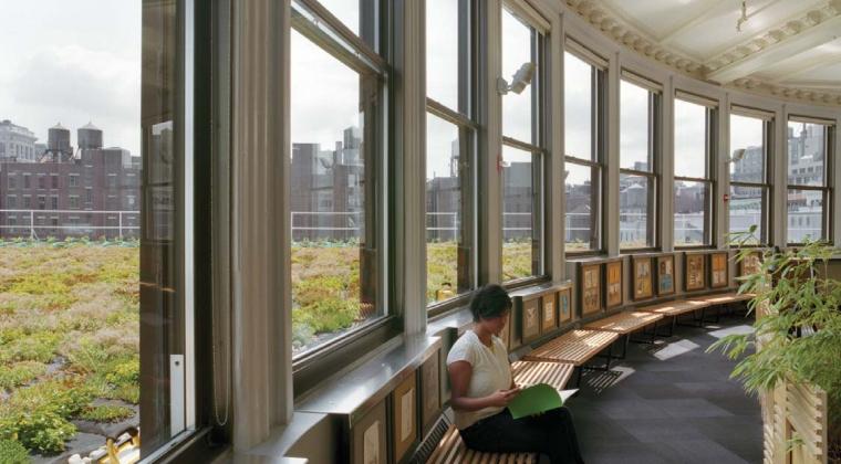 Biofiele ontwerp van gebouwen stimuleert werknemers