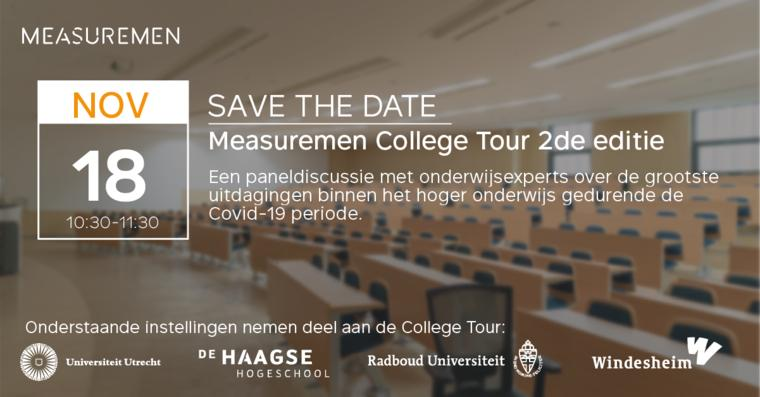 18 november 2020: College Tour over Covid-19 uitdagingen hoger onderwijs