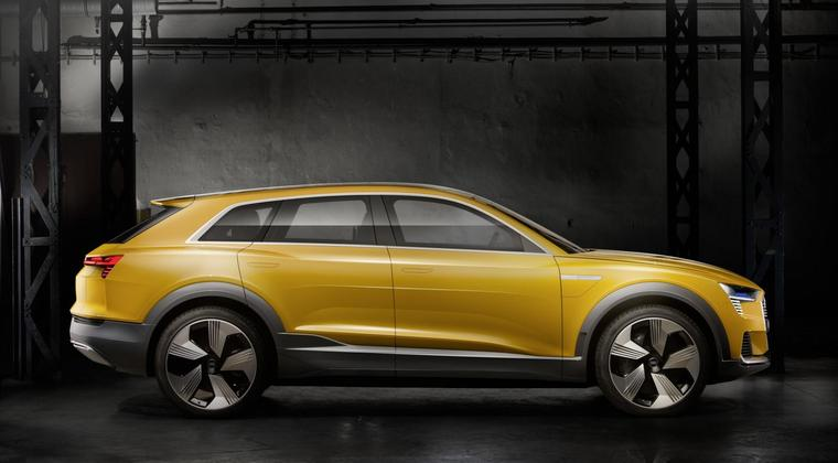 De waterstof-auto van Audi heet h-tron