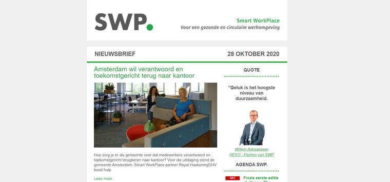 Smart WorkPlace brengt wekelijkse nieuwsbrief uit