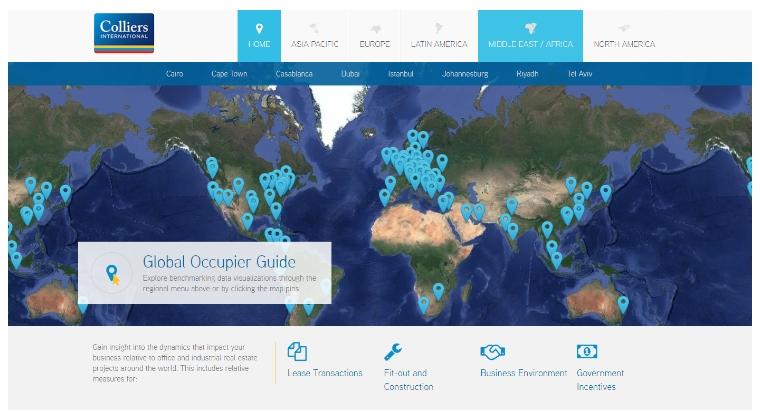 Website brengt wereldwijde verschillen kantooroppervlak in beeld