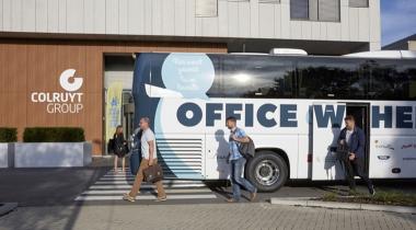 Belgische 'Kantoorbus' voorziet in behoefte bij werknemers