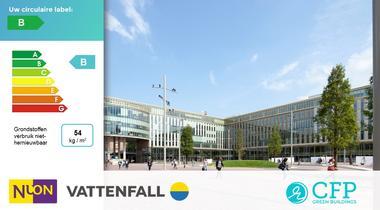 CFP Green Buildings brengt circulariteit hoofdkantoor Vattenfall Nederland in kaart