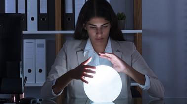 'Het toekomstig kantoor. Een glazen bol of noodklok'