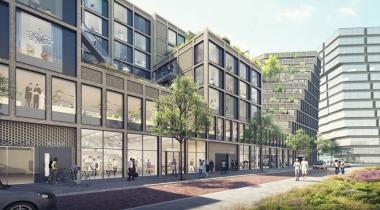 Nieuwe gebouw voor coworking en coliving op Amsterdamse Zuidas
