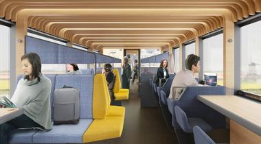 Reistijd wordt werktijd in trein van de toekomst