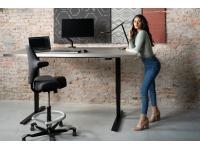Stroomloze verstelbare zit-sta werkplek voor thuis